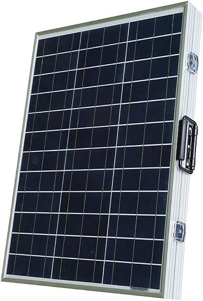 ECO-WORTHY Kit de panel solar plegable de poliéster portátil de 100 W con controlador solar de 15 Amp para carga de batería de 12 V