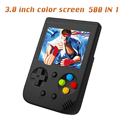 Ruihoxin Handheld Game Console, 500 Classic Games 3.0 inch HD LCD Screen Portable Video Game, Retro Game Console can be Played on TV, Best Gift for Children and Adults, Gifts. (Black): Toys & Games