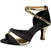 Zapatos de Baile Latino Mujer Salsa Lentejuelas Zapatos