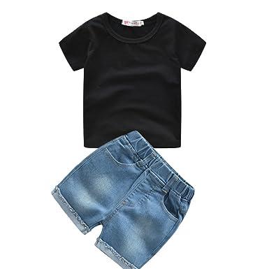 Amazon.com: Conjunto de pantalones vaqueros de verano para ...
