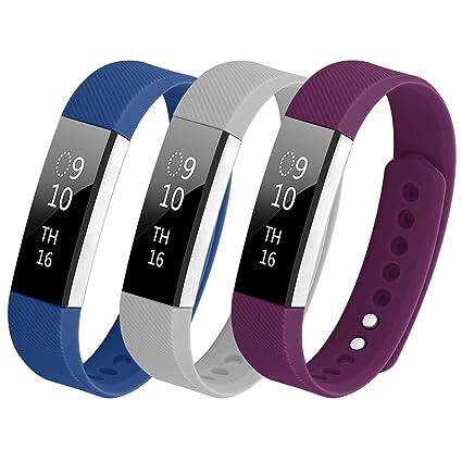 Bepack Fitbit Alta HR Correa, Pulsera Fitbit Alta, Accesorio Ajustable en Silicona, Repuesto de Relojes Multicolor Recambio de Pulseras Ajustable ...
