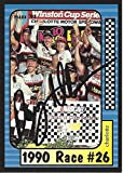 AUTOGRAPHED Davey Allison 1991 Maxx Racing 1990 CHARLOTTE RACE WIN (#28 Texaco Havoline Team) Rare Vintage Signed NASCAR Collectible Trading Card with COA