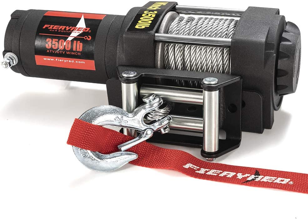 FieryRed Synthetic Winch Rope