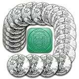 #5: 2017 1 oz Silver American Eagle Coins BU (Lot, Tube, Roll of 20) - Amazon Brilliant Uncirculated