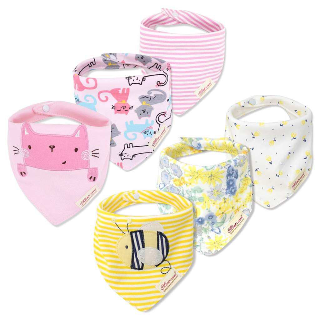 3 Pack Baby Christmas Bibs Feeding Bibs Bandana Waterproof Pure Cotton Embroideried Absorbent 0-3 Years