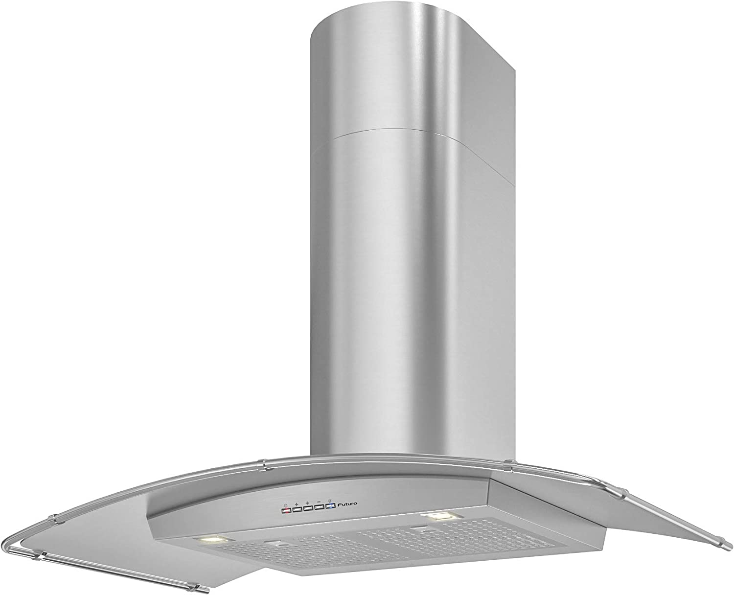 Ultra-Quiet Professional-Style Design w//Extra Filters LED Futuro Futuro Magnus 36 Inch Wall-mount Range Hood with Blower