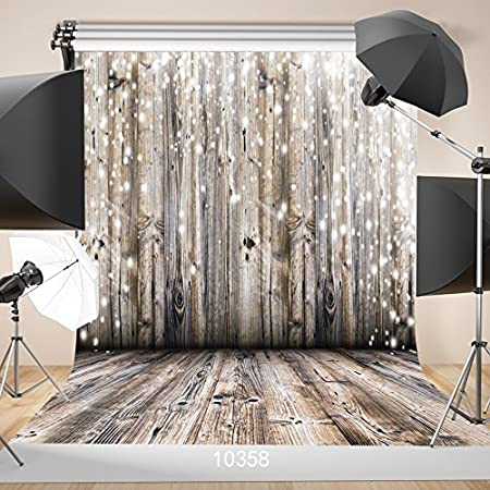 7x10 FT Industrial Vinyl Photography Backdrop,Zinc Style Wooden Gate Image Street Construction Window Covered with Plank Image Background for Party Home Decor Outdoorsy Theme Shoot Props