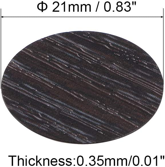 uxcell Self-Adhesive Screw Hole Stickers,1-Table Self-Adhesive Screw Covers Caps Dustproof Sticker 21mm 54 in 1 Black Walnut