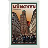 """CafePress - Munich Frauenkirche 2 Rectangle Magnet - Rectangle Magnet, 2""""x3"""" Refrigerator Magnet"""