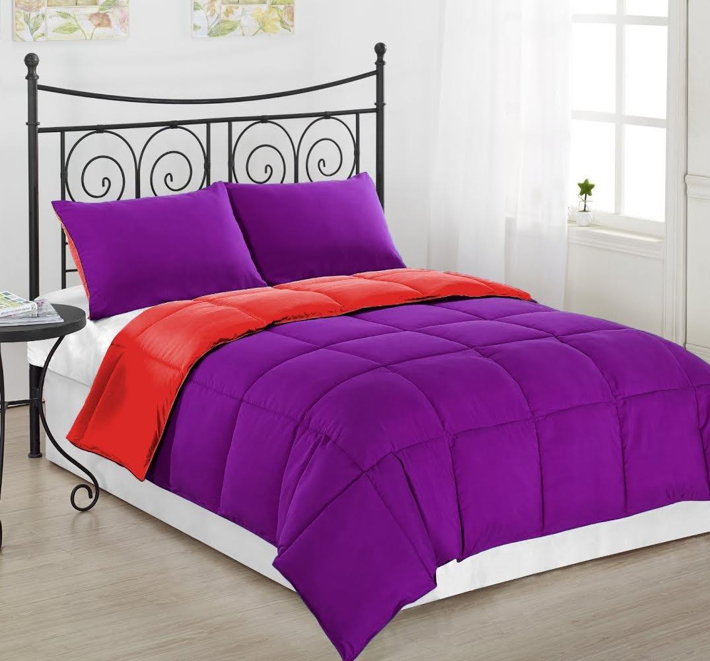 Amazoncom 3pc Reversible Goose Down Alternative Comforter