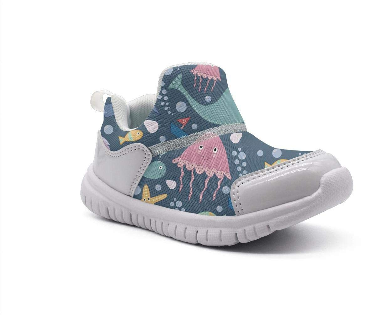 ONEYUAN Children Sharks Whale Jellyfish Kid Casual Lightweight Sport Shoes Sneakers Running Shoes