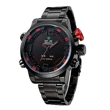 WEIDE WH2309 Reloj Hombres Deportes de Moda Militar con LED Analógica y Digital de Retroiluminación Resistente al Agua: Amazon.es: Electrónica