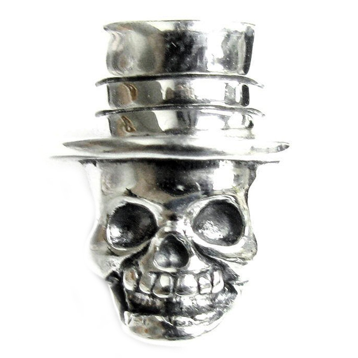 Sterling Silver Dead Mr. Skeleton with Hat European-style Bead Charm