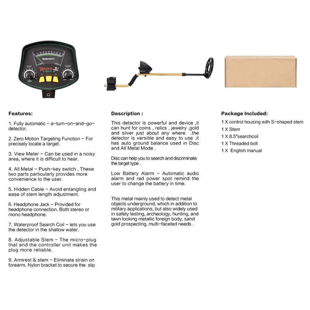 Amazon.com : ETE ETmate Professional Metal Detector MD-3009II Used as Portable Gold Detectors and Treasure Finder Detectors 8 Inches Adjustable Sensitivity ...