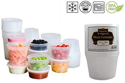 Business & Industrial Plastic Round Microwave Freezer Safe Leakproof Food Containers And Lids Commercial Kitchen Equipment