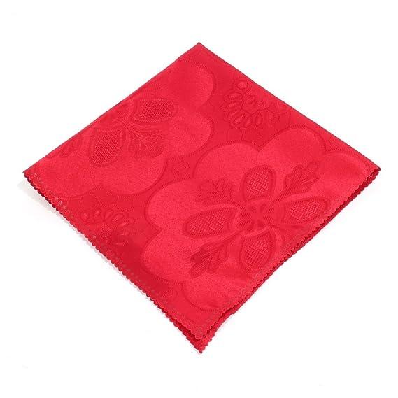 Amazon.com: eDealMax estampado de flores de tela Inicio Mesa Cuadrada decoración servilleta de tela 50 x 50 cm 5 piezas de Red: Kitchen & Dining