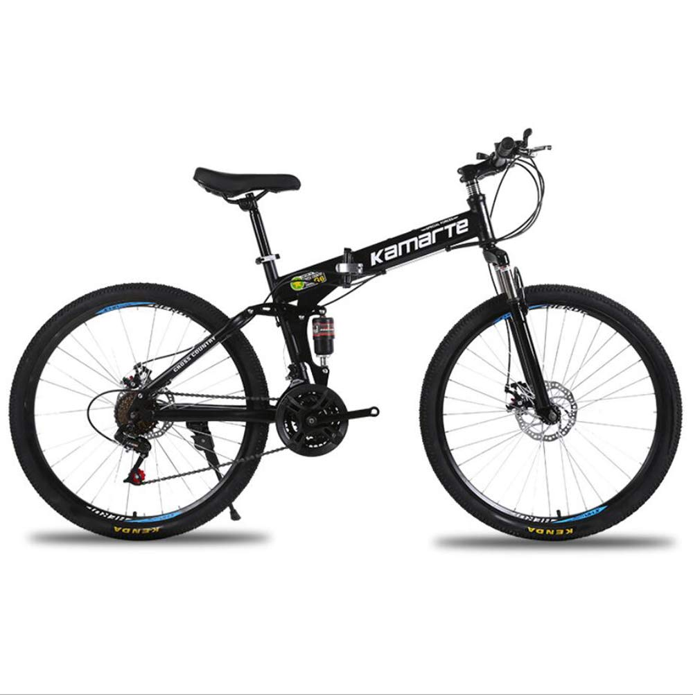 El ultimo 2018 E 21Speed YuCoche 26    Marco de Acero Plegable para Bicicleta de montaña 2.0 MTB 21 24 27 de Velocidad con Frenos de Disco  precios ultra bajos