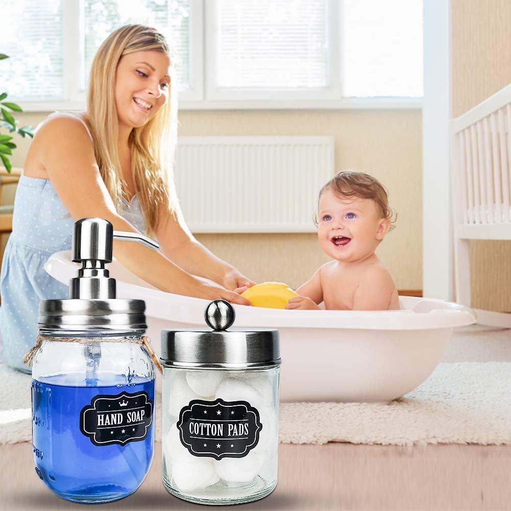 capmesso mason jar bathroom accessories