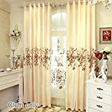 WPKIRA Grommet Blackout Curtains Window Treatment Panels for Living Room Chenille Jacquard Window Drapes Embroidered Curtains European Style Elegance Curtains for Bedroom 1 Panel W75 x L96 inch For Sale