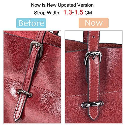 Rote versión clásico y de de estilo S de para Bolso hombro mujer cuero ZONE mejorada 47w16qTCn