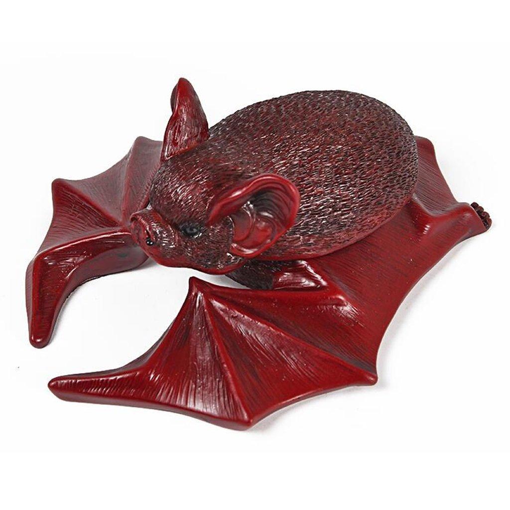 cendrier Xuan - worth having Bats Style Matériau résine synthétique Creative avec couverture rouge (16,5 * 14 * 6,5 cm)