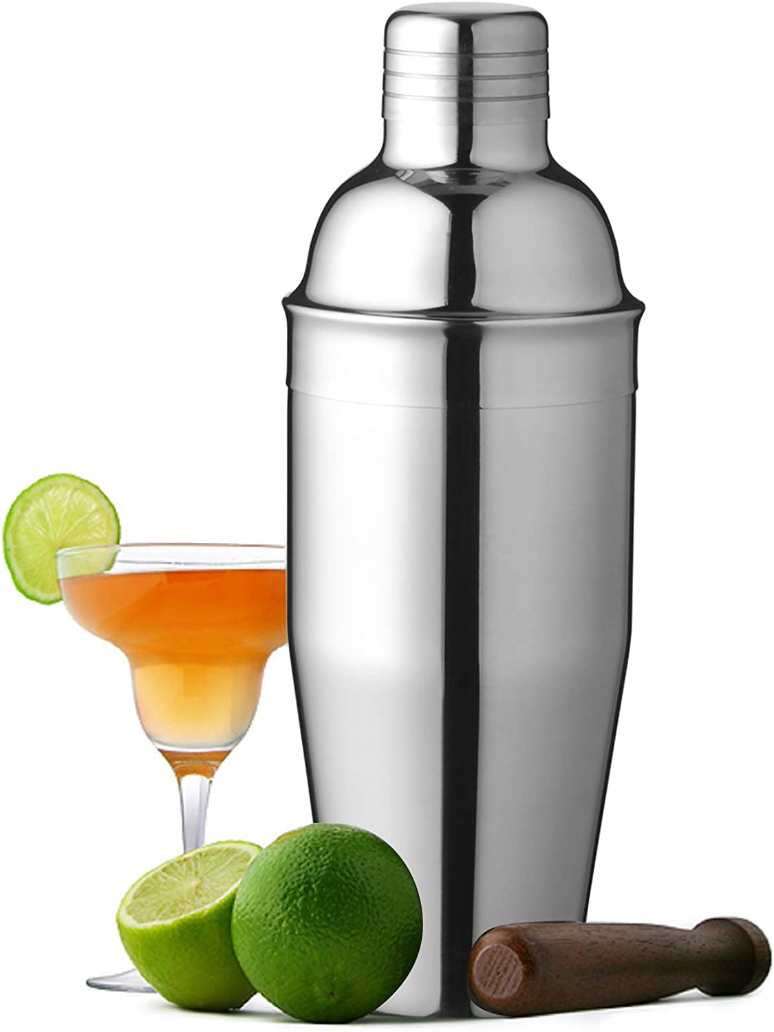 Cocktail Shaker 25 Oz/750ml Food Grade Stainless Steel Martini Shaker with Cocktail Strainer, Bar tools Bartender Kit Gifts