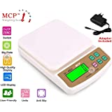 MCP Compact Scale with Tare Function SF 400A with Adaptor 10 kg Digital Multi-Purpose Kitchen Weighing Scale