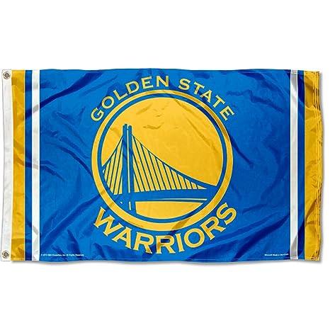 Amazon.com : NBA Golden State Warriors 3x5 Banner Flag : Sports ...