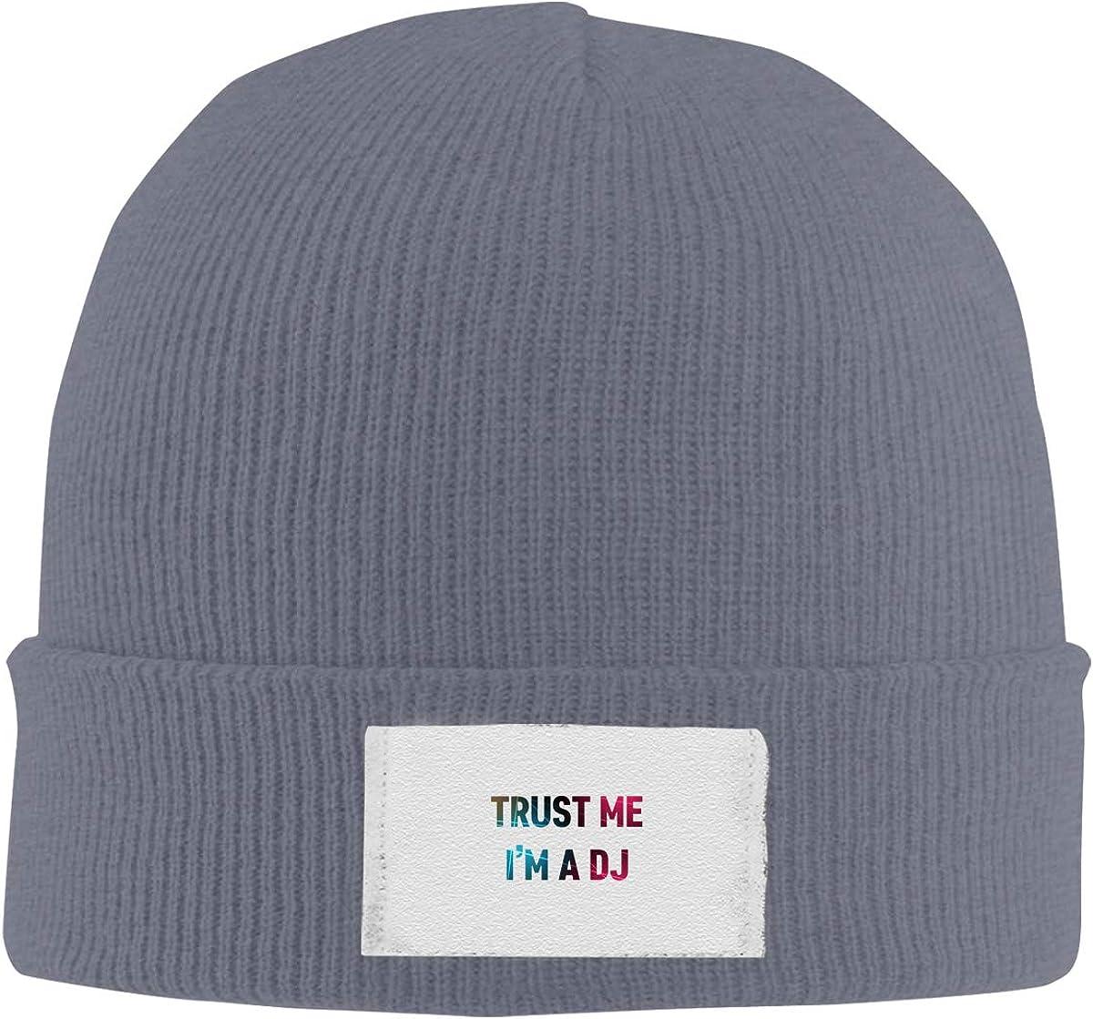 Dunpaiaa Skull Caps Trust Me Im The DJ Winter Warm Knit Hats Stretchy Cuff Beanie Hat Black