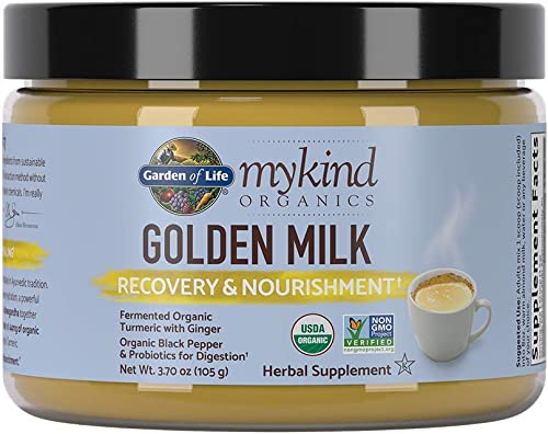 Garden of Life mykind Organics Golden Milk Recovery Nourishment 3.7oz 105g Powder