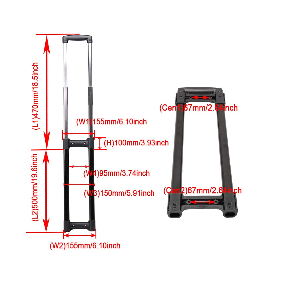 R001# Homeswitch Travel Suitcase Telescopic Handle Replacement Spare Parts Suitcase Pull Drag Rod