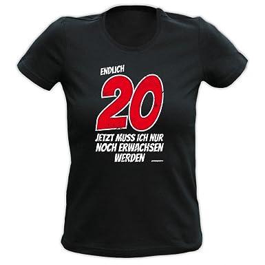 T-Shirt zum 20. Geburtstag für Damen - Endlich 20 - Geschenk  Geburtstagsgeschenk,