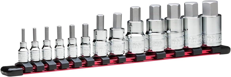 Advanced Series Capri Tools Hex Bit Socket Set 13-Piece Metric