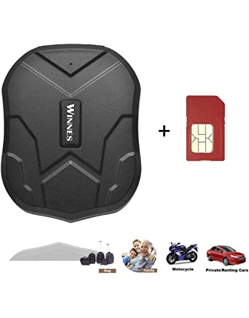Localizzatore Magnetico Nascosto da Usare come Anti-Furto e per Bambini//Anziani//Personale Leshp GPS Tracker per Auto Impermeabile Wireless per Tracciamento GPS//GSM//GPRS Portatile Mini
