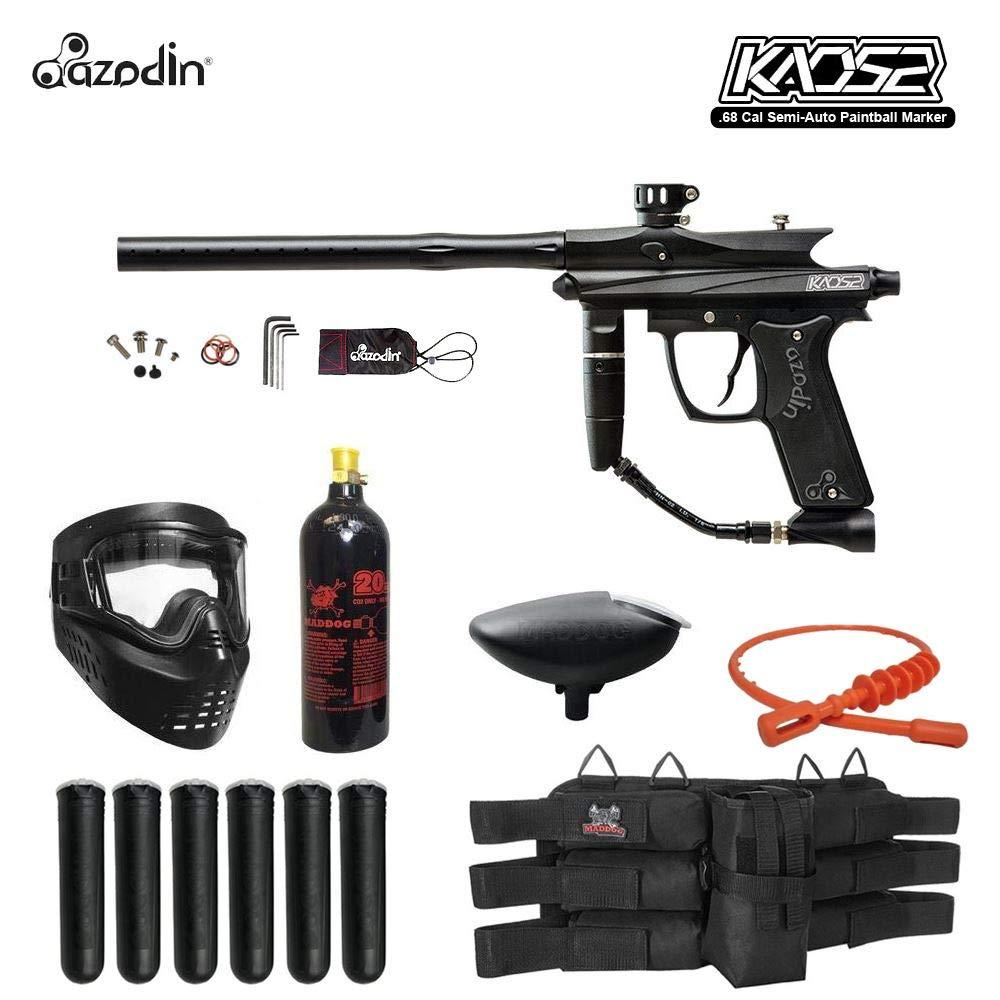 MAddog Azodin KAOS 2 Titanium Paintball Gun Package - Black by MAddog
