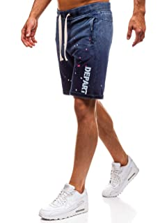 BOLF Hombre Pantalón Corto Pantalones Deportivo Pantalón de Algodón  Entretiempo Fitness Deporte 7G7 Motivo 27ef74e10fc