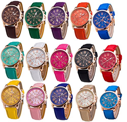 Women's Wholesale 10 Assorted Platinum Watch (10PACK-A3) from OULAIELF