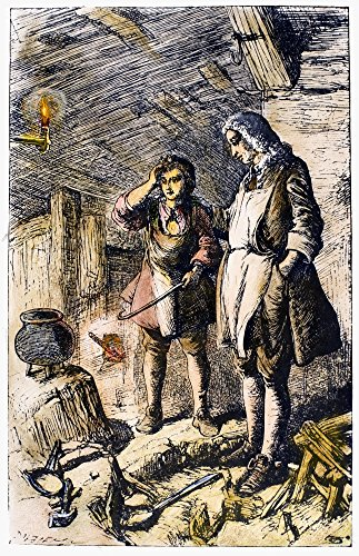 Abraham Darby (1678-1717) Nenglish Ironmaster Darby At His Forge And The Discovery Of Cast Iron Etching English 19Th Century Poster Print by (18 x 24)