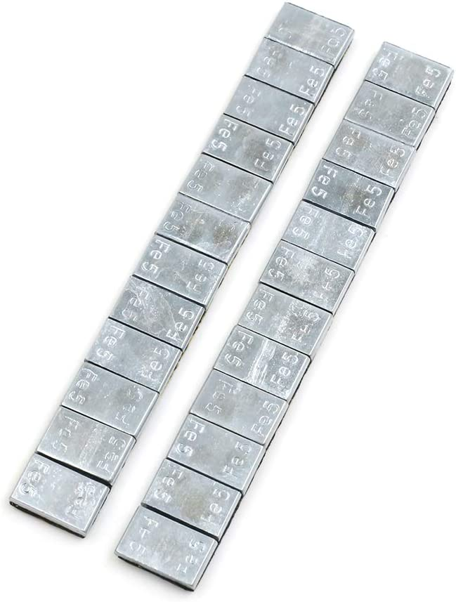 F FIERCE CYCLE 2.1oz Adhesive Back Wheel Balance Weights Strips for Motorcycle 140 x 19mm 2pcs
