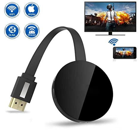 Wireless Display Dongle, 1080P Portable TV Receiver, WiFi HDMI Display  Adapter for Big Screen, Support Miracast DLAN Airplay, Compatible with