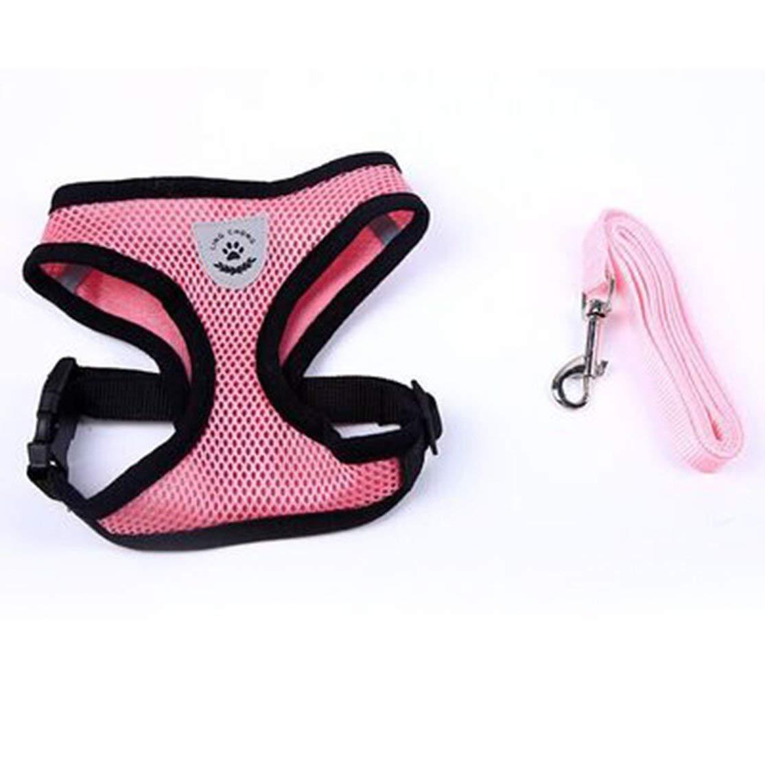 Candyboom Transpirable Lavable Conveniente Perro Chaleco-Estilete Vestido arn/és de Arco Juego de Correas para Perros peque/ños Gato Mascota Pecho Correa Correa