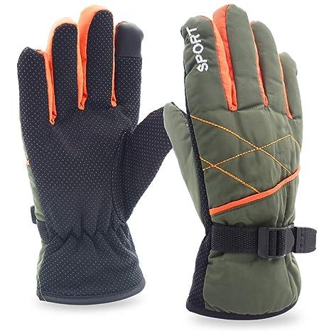 Guantes de Invierno C/álido Impermeable Pantalla T/áctil a Prueba de Viento Antideslizante,para Bicicleta,Moto y Correr al Aire Libre Guantes Calientes,Unisex