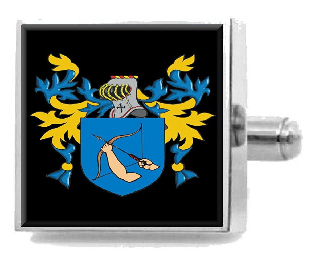 Select Gifts Horry England Family Crest Surname Coat Of Arms Cufflinks Personalised Case