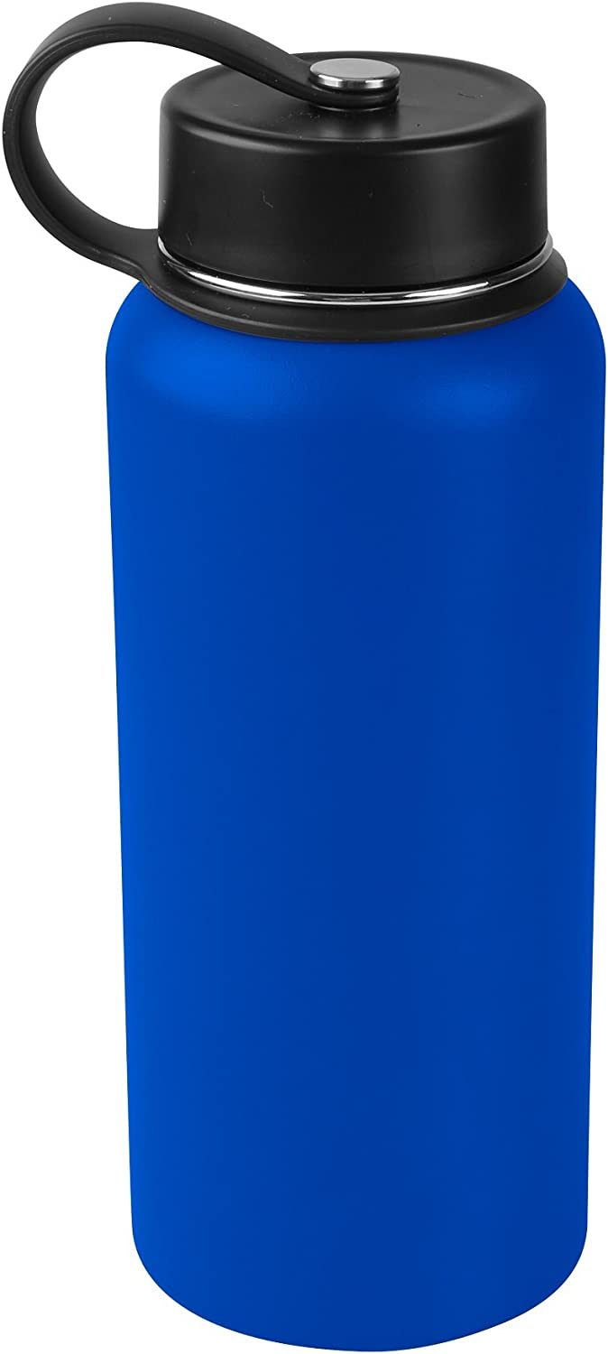 Tahoe Trails 32 oz Double Wall Vacuum Insulated Stainless Steel Water Bottle, Royal Blue