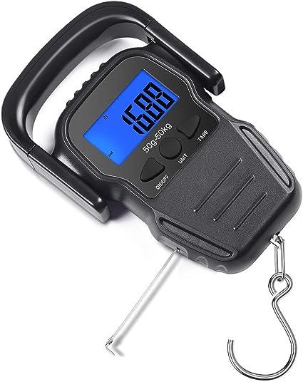 50 lbs. Rapala RHCDS50 High Contrast Digital Scale,Black