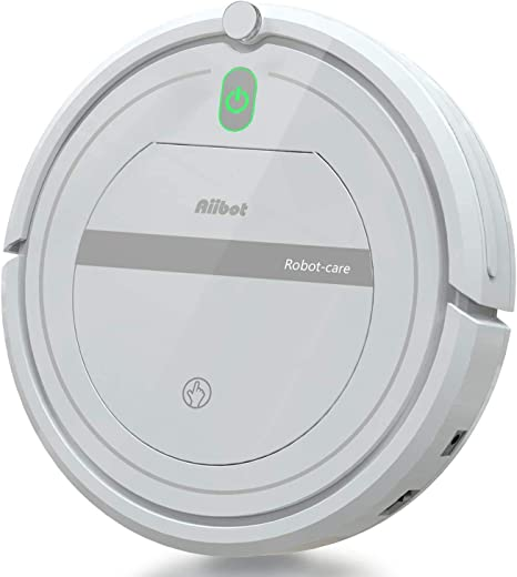 Aiibot Robot Aspirador Limpieza Inteligente, Succión Poderosa, Apto para Pelo Animal/Suelo de Madera/de Baldosa/Alfombra, Sistema de Prevención de Caída, Dual Filtro, Control Remoto (Blanco-288): Amazon.es: Hogar