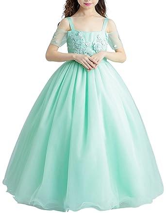 c57a3a1928c Girls Princess Green Dresses Flower Girl Dress Kids Wedding Dress Birthday  Party Dress The Wizard of Oz Cosplay Dress s1702  Amazon.co.uk  Clothing