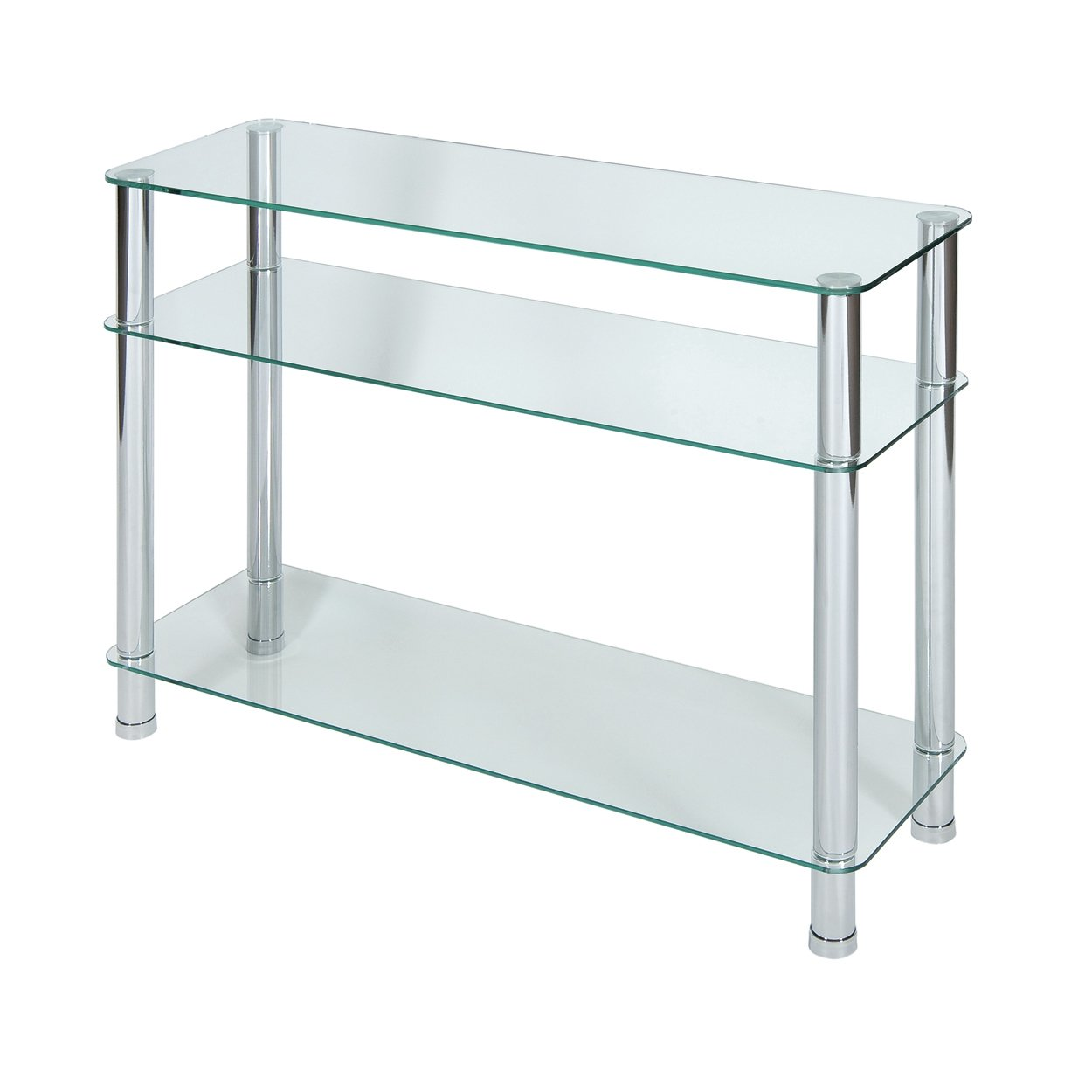 Hygena matrix black glass shelving unit built in bookcase for White and glass console table