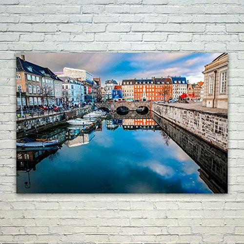 Westlake Art Canal Water   12X18 Poster Print Wall Art   Modern Picture Photography Home Decor Office Birthday Gift   Unframed 12X18 Inch  4Fde 5F971