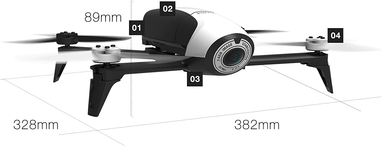 Parrot Bebop 2 is the cheapest long range quadcopter drone in out list of  top long range drones